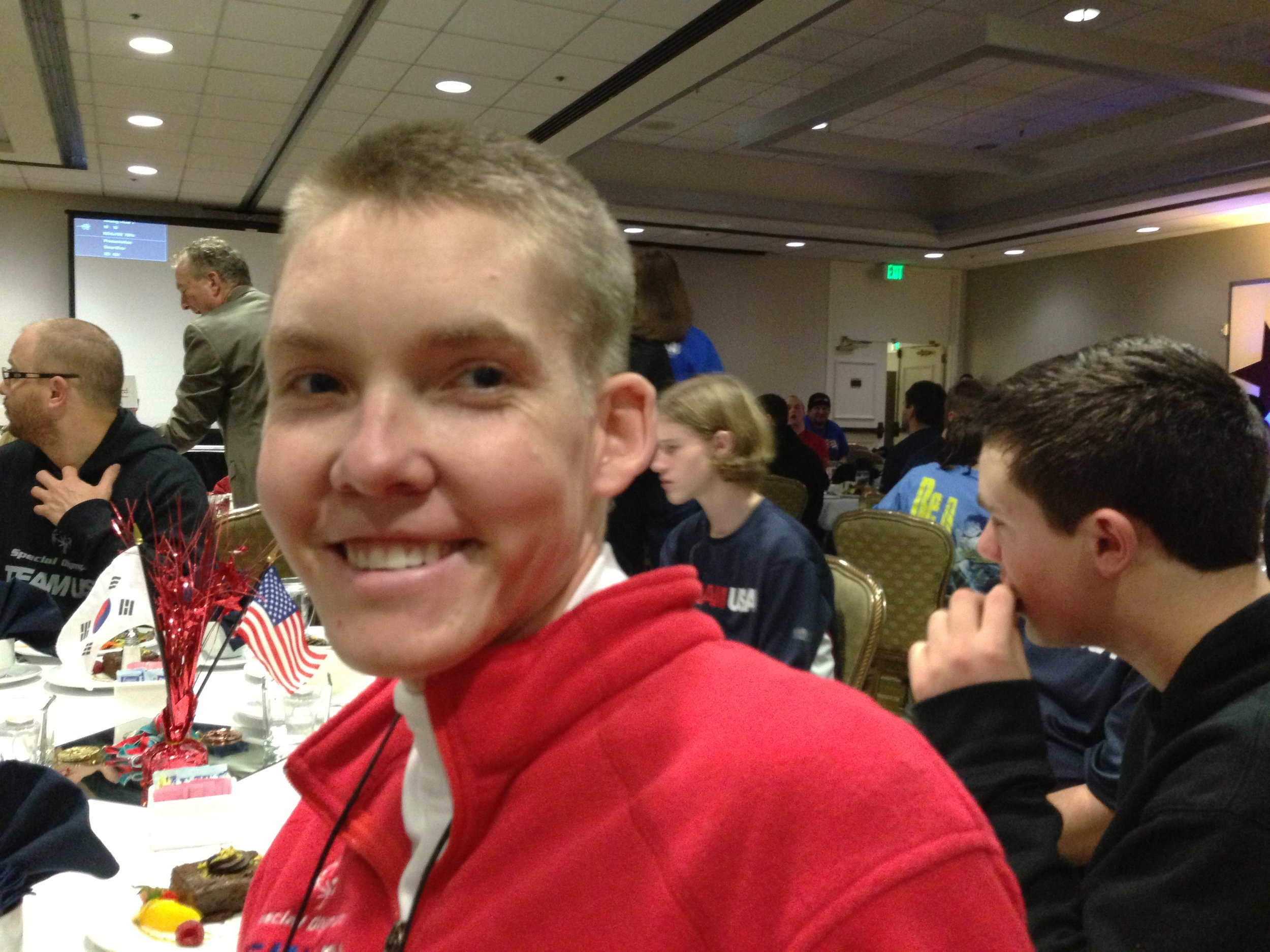 Chase Lodder, 25, of Salt Lake City, Special Olympics snowboarder