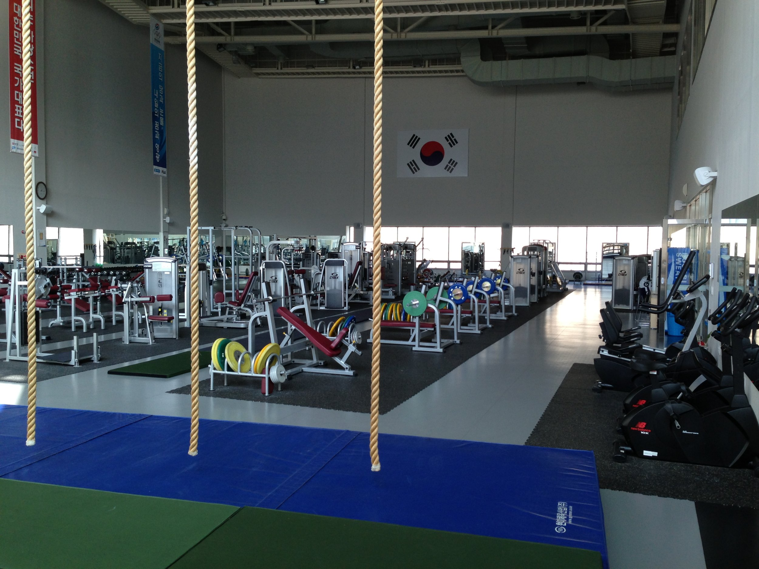 The Jincheon center weight and strength-training room