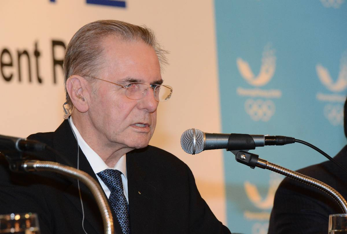 International Olympic Committee president Jacques Rogge at Friday's Seoul news conference // photo courtesy Korea Herald