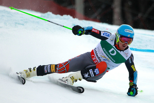 Ted Ligety skiing to victory Friday in the giant slalom at the alpine world championships in Schladming, Austria // photo courtesy Mitchell Gunn ESPA and U.S. Ski Team