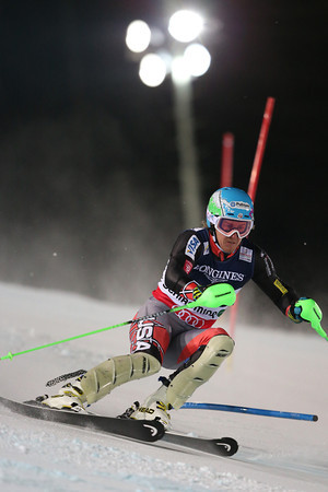 Ligety racing to victory in the slalom under the lights // photo by Mitchell Gunn ESPA, courtesy US Ski Team