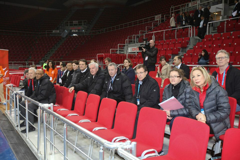 IOC evaluation commission and Istanbul 2020 officials checking out the local sports sites // photo courtesy Istanbul 2020