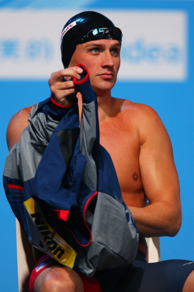The beginning: Ryan Lochte moments before the first of his three races, the 200 backstroke // Getty Images