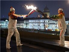 The Olympic flame in St. Petersburg, Russia // photo courtesy Sochi 2014