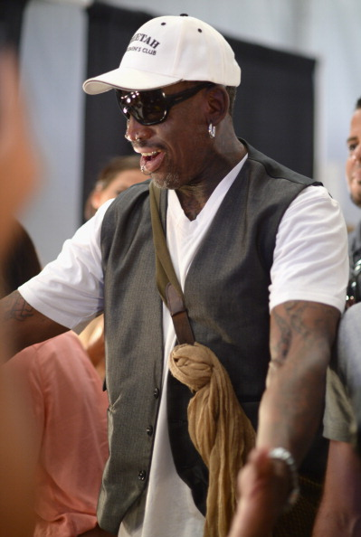 Dennis Rodman in his element -- Fashion Week in Miami in July // photo Getty Images