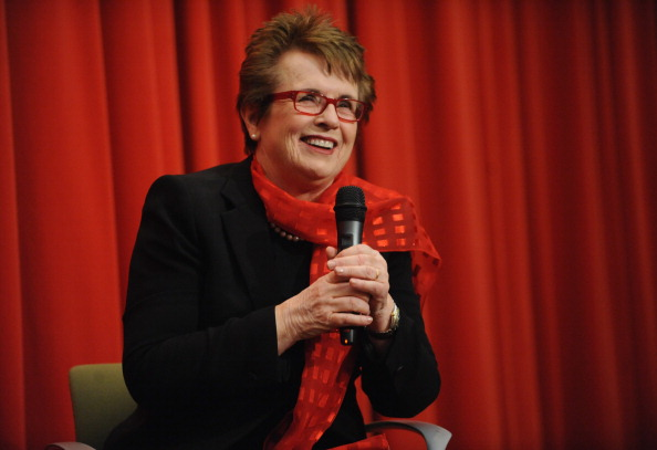 Billie Jean King in New York last month at a 70th birthday party // photo Getty Images
