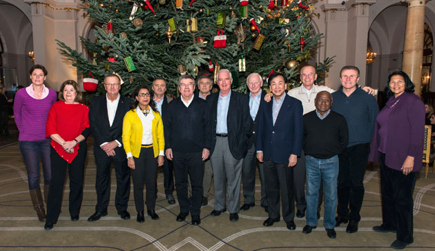 The IOC executive board at its Montreux retreat // photo courtesy IOC