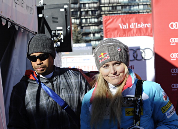 Lindsey Vonn and Tiger Woods on Dec. 21 at the World Cup ski event in Val d'Isere, France // photo Getty Images