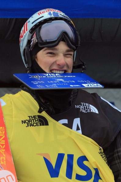 Nick Goepper on the podium in Copper Mountain, Colorado, after securing an Olympic berth // photo Getty Images
