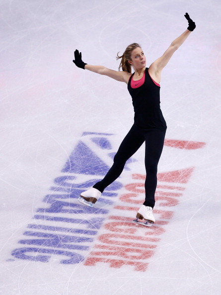 Ashley Wagner practicing Wednesday ahead of the U.S. Olympic figure skating Trials in Boston // photo Getty Images