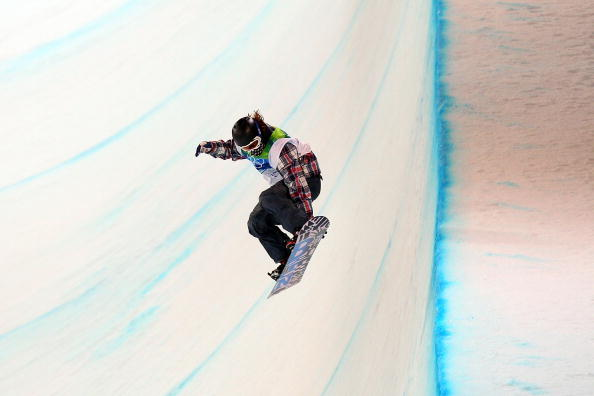 White competing in the halfpipe in Vancouver // photo Getty Images
