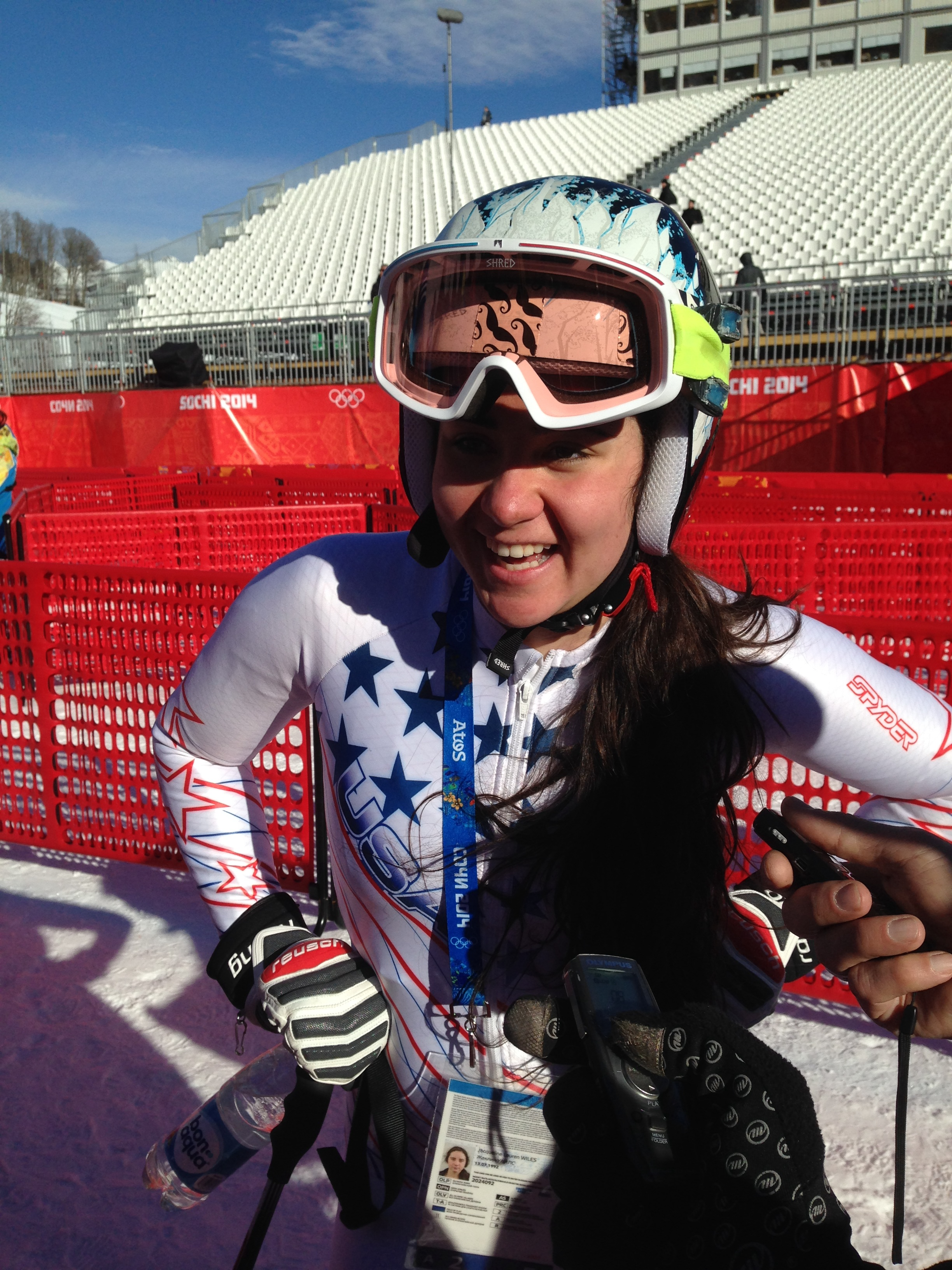 Jackie Wiles after Saturday's sparkling downhill training run