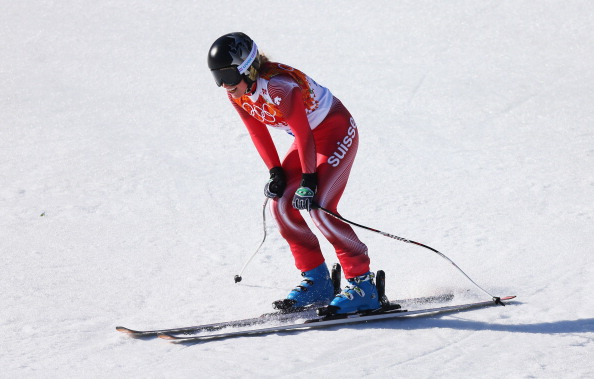Swiss racer Lara Gut after the Olympic super-G // photo Getty Images