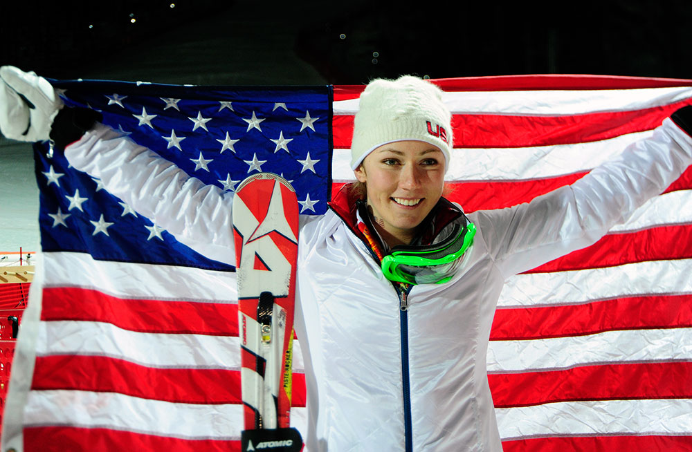 Women's slalom gold medalist Mikaela Shiffrin // photo courtesy Tom Kelly and U.S. Ski Team