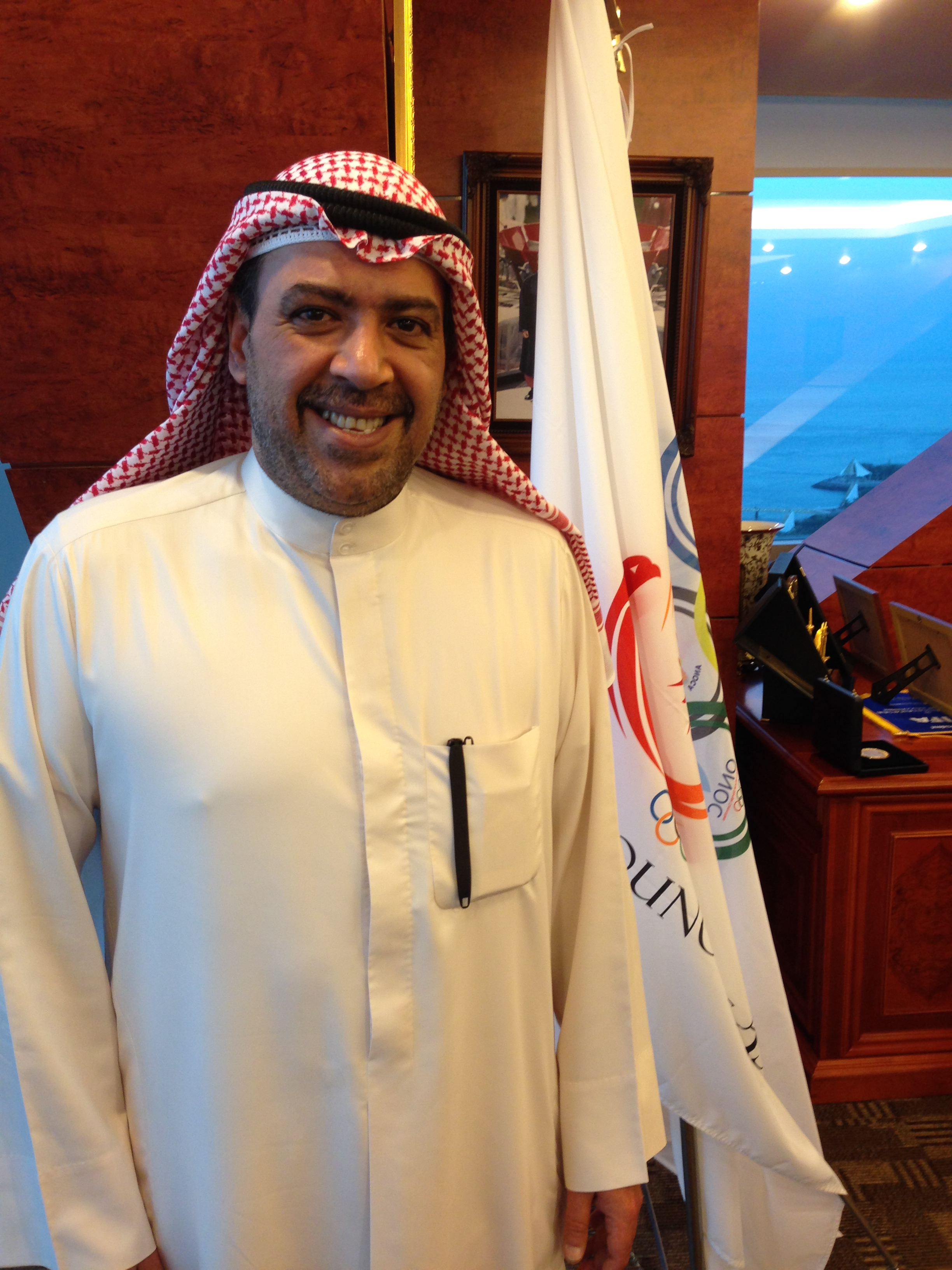 Sheikh Ahmad Al-Sabad Al-Fahin his Kuwait City offices