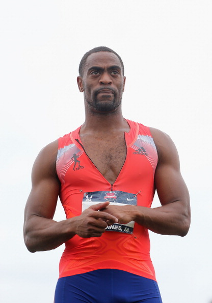 Tyson Gay after winning the 200 in 19.74 seconds at the US nationals on June 23, 2013, the day his sample was collected // photo Getty Images
