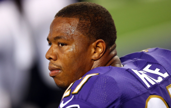 Ray Rice during a pre-season game in August // photo Getty Images
