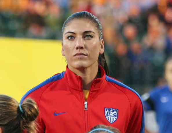 Goalie Hope Solo before last week's US-Mexico match // photo Getty Images