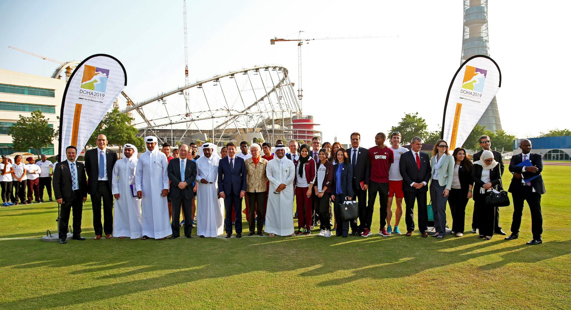 On scene in Doha with the IAAF evaluation commission // photo courtesy Doha 2019