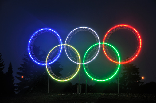 The five rings in a scene from the 2010 Games in Vancouver // photo Getty Images
