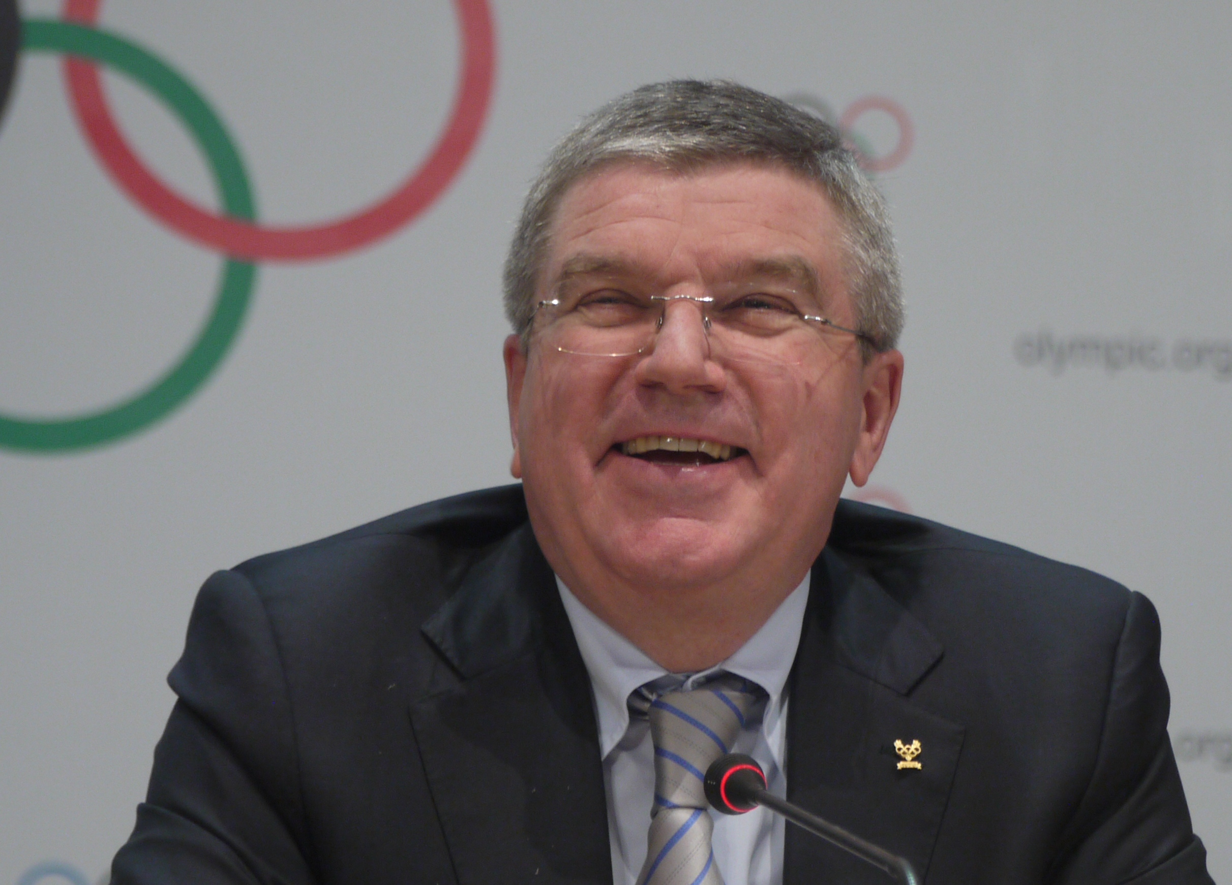 IOC president Thomas Bach  // photo Edward Hula III
