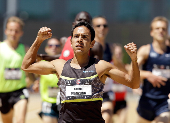 Leo Manzano at the 2014 USATF championships // photo Getty Images