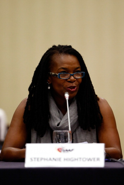 USATF board chair Stephanie Hightower at the 2014 IAAF board meeting in Eugene, Oregon // photo Getty Images