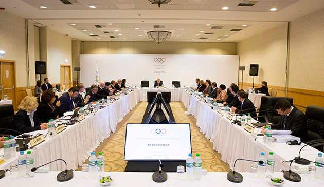 The IOC executive board meeting in session Thursday in Rio de Janeiro // photo courtesy IOC