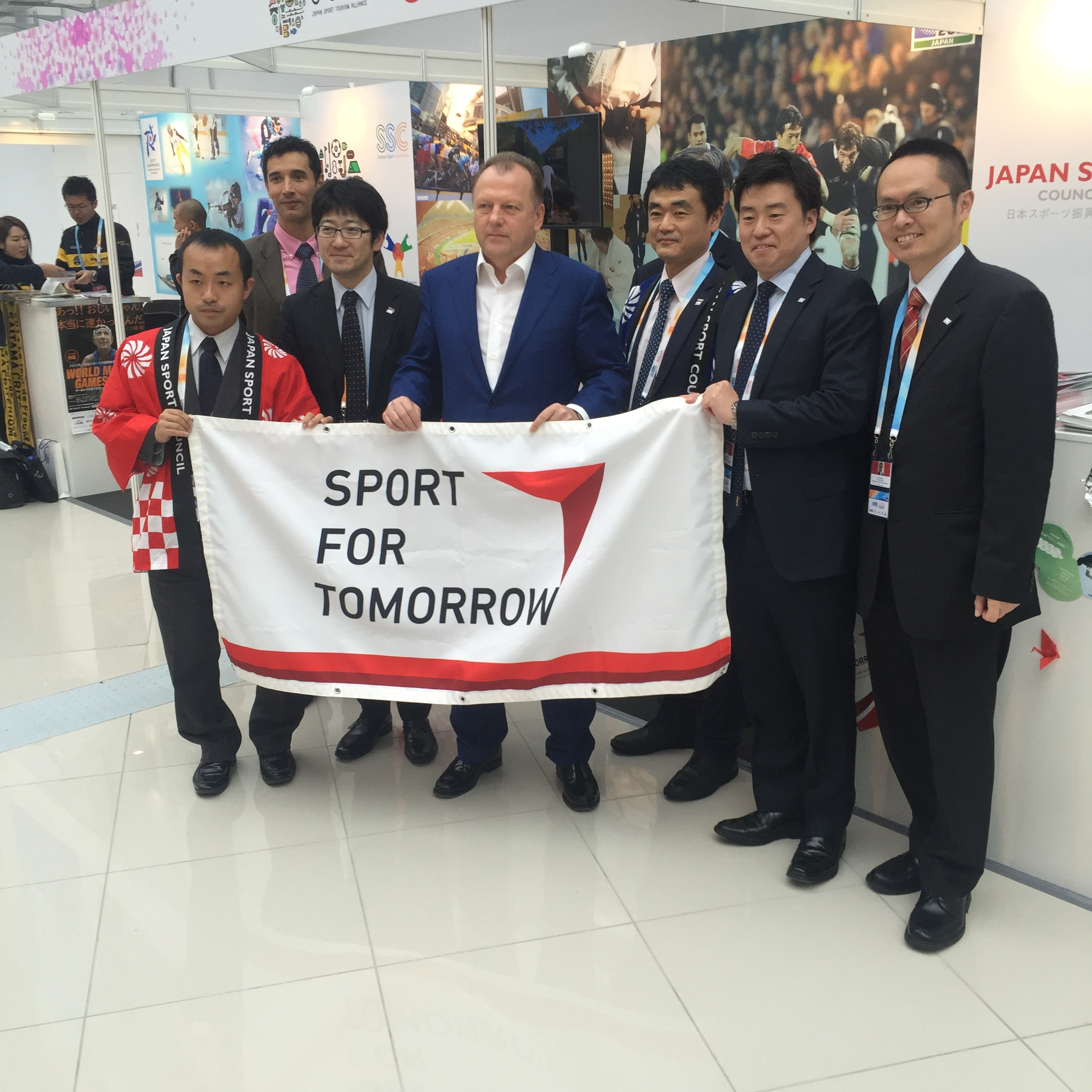 SportAccord president Marius Vizer in the halls of the convention