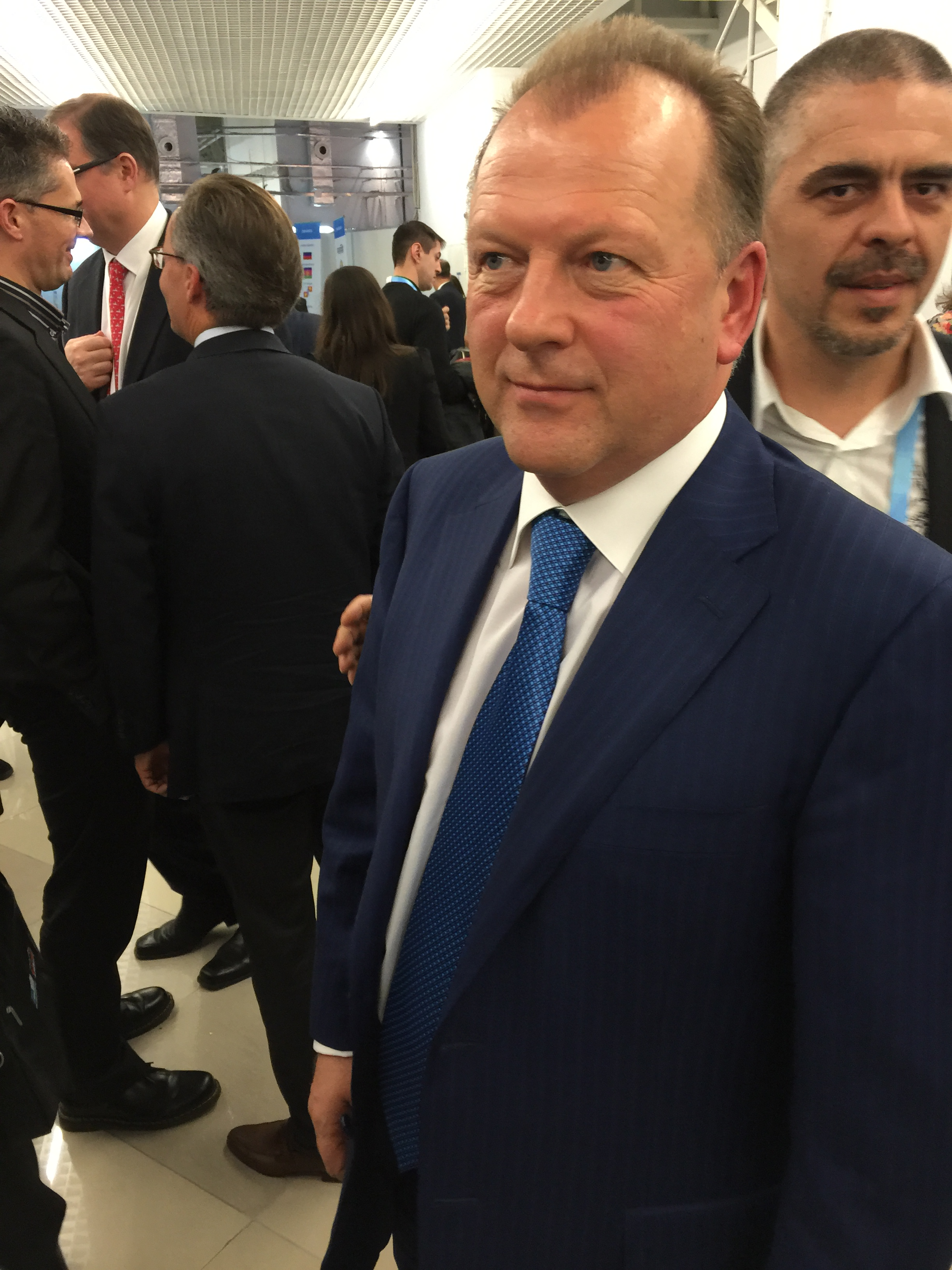 SportAccord president Marius Vizer moments after Thursday's news conference