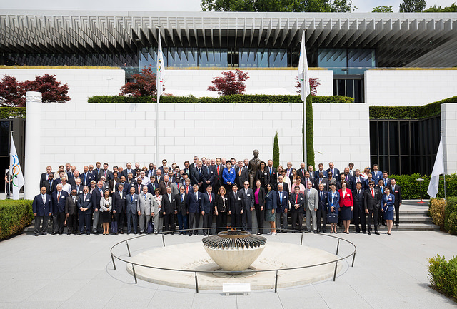The seven dozen or so members of the IOC in attendance at the 2022 Winter Games briefing last week in Lausanne // photo IOC