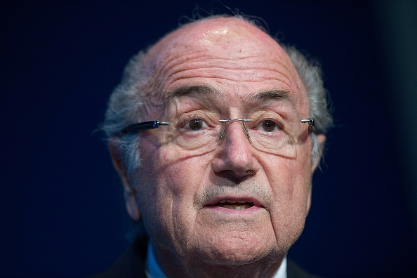 Sepp Blatter during the June 2 news conference at FIFA headquarters // Getty Images