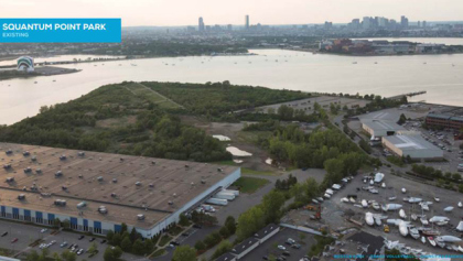 The newly proposed site for beach volleyball in Quincy, Massachusetts // Boston 2024