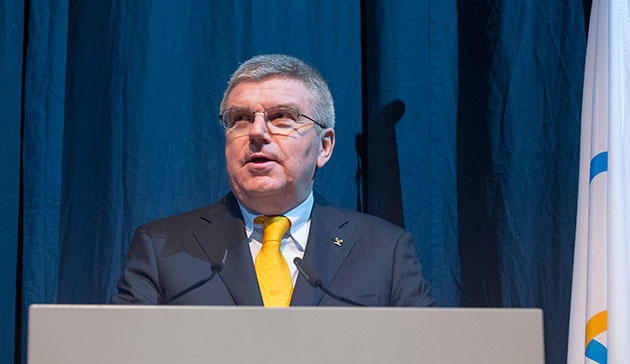 IOC president Thomas Bach at the opening of the 128th session // photo IOC