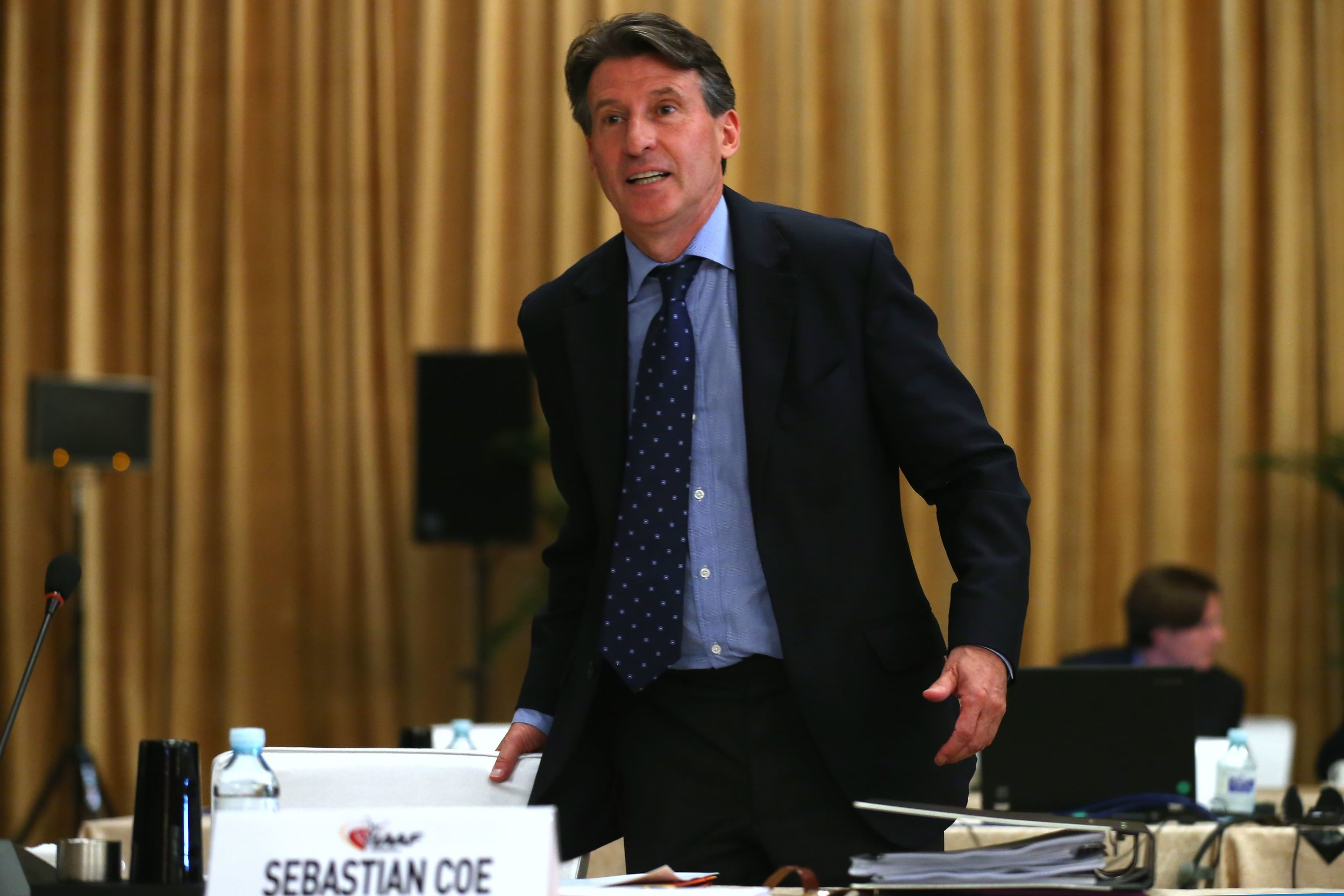 Coe at the IAAF congress // Getty Images