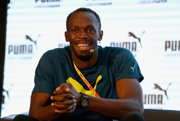 Usain Bolt at Thursday's news conference // Getty Images