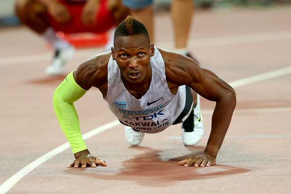 Botswana's Isaac Makwala after the 400 semis // Getty Images