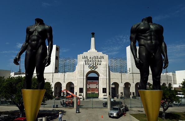 Outside the famed peristyle end of the Los Angeles Memorial Coliseum, venue for the 1932 and 1984 Summer Games // Getty Images