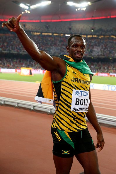 Usain Bolt in a familiar pose: victory // Getty Images