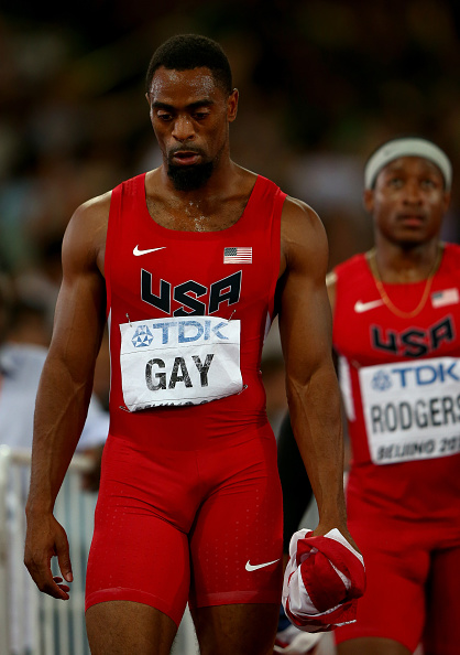 Tyson Gay after the U.S. DQ // Getty Images