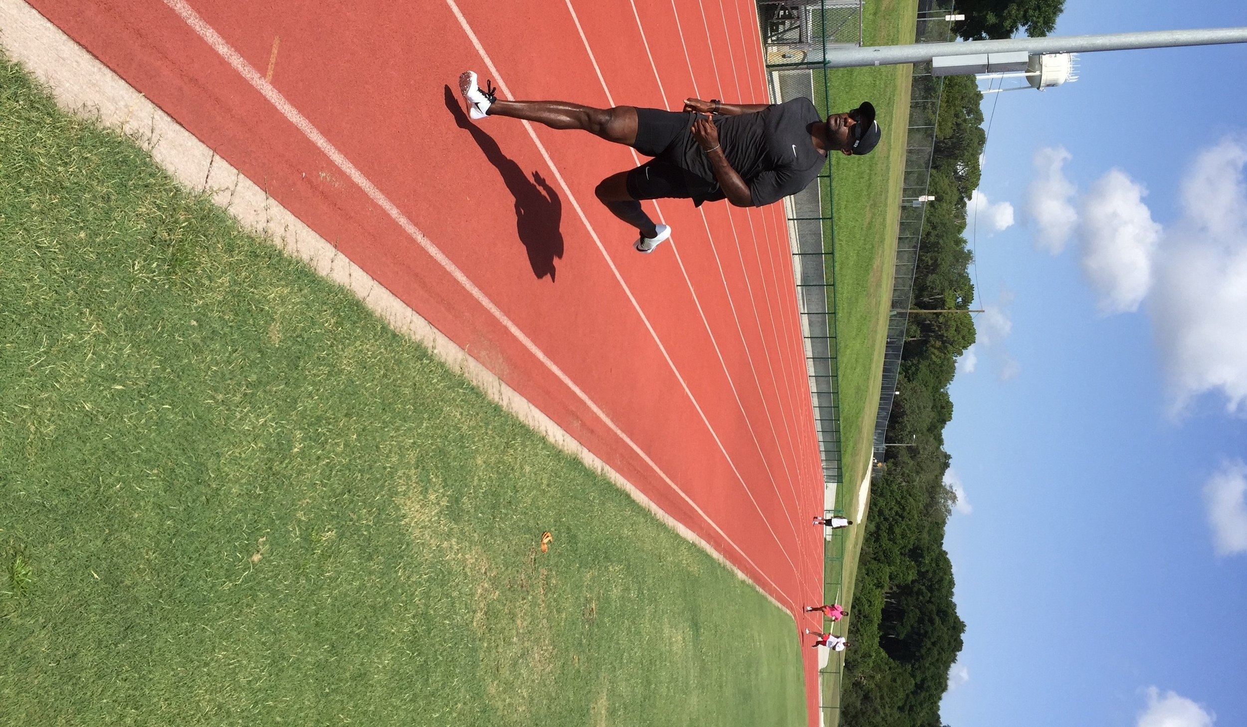 Gatlin training under current coach Dennis Mitchell in Clermont, Florida