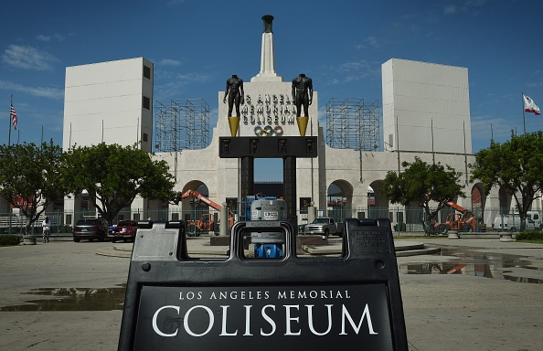 A view last month of the LA Memorial Coliseum // Getty Images