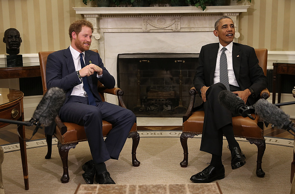 Prince Harry and President Obama Wednesday at the White House // Getty Images