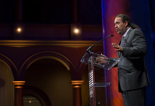 ANOC president Sheikh Ahmad al-Fahad al-Sabah speaks at Wednesday's USOC welcome reception at the National Building Museum // Getty Images