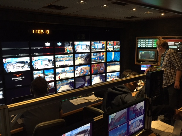 Inside the TV truck before Sunday's finals