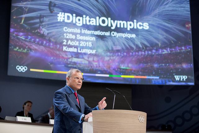Sir Martin Sorrell addressing the IOC session in Kuala Lumpur on Aug. 2 // photo IOC