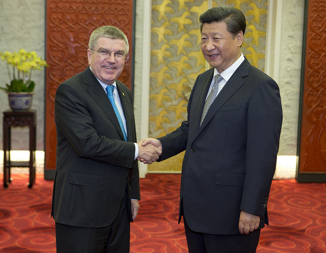 In August in Beijing with Chinese president Xi Jinping // photo IOC