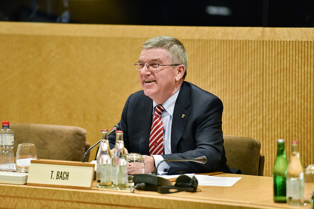 IOC president Thomas Bach at this week's executive board meetings // photo IOC