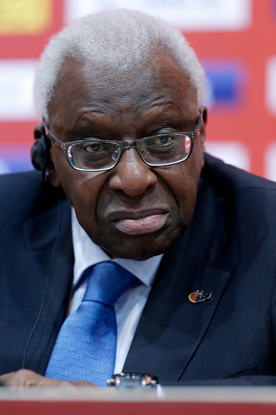 Former IAAF president Lamine Diack at last summer's world championships in Beijing // Getty Images