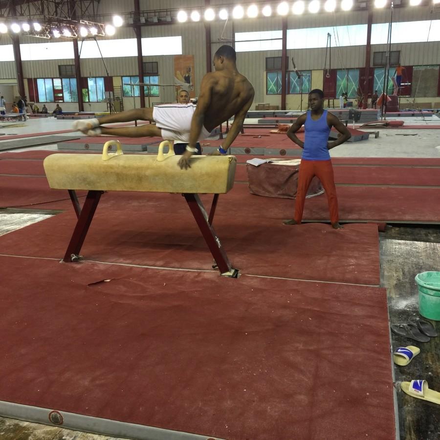 Pommel horse practice
